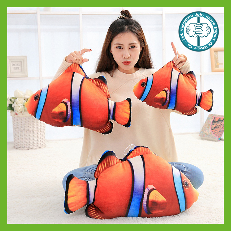 New design lifelike cuddly printing stuffed soft sea animals plush for kids toys