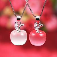 925 sterling silver jewelry Cats Eye pendants with more color Apple shape zirconia wholesale price