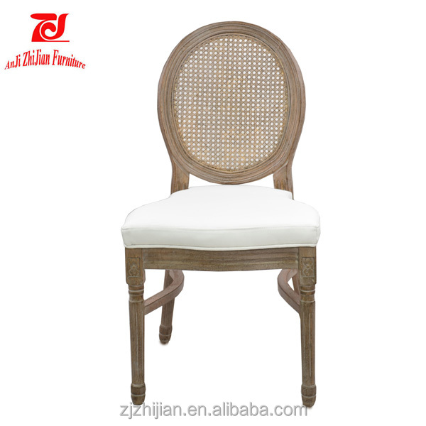 Dining Chair Modern Restaurants Vintage Wood Chairs Monique Rattan Stackable Chair ZJ07