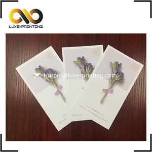 Dried flowers packaging design birthday greeting paper cards