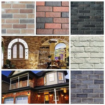 Faux Fire Thin Brick Veneer For Fireplace Decor - Buy ...