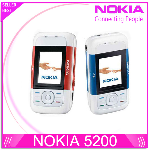 Refurbished Nokia 5200 Unlock Cell Phones 1 year warranty Free shipping