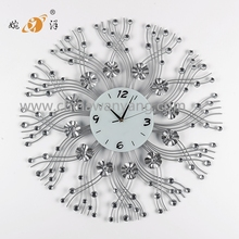 2017 Hot-selling metal decorative digital wall clock China