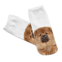 Free Shipping Hot Sale 3D Socks Chow Pattern White Color Cozy Socks Thin Comfortable Socks