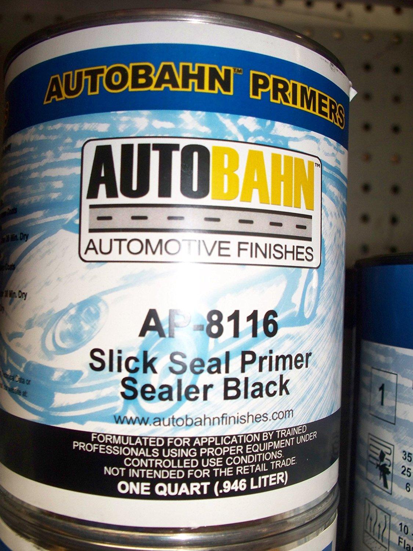 Autobahn AP-8116 1 Gallon Black Slick Seal Primer Sealer Kit Wholesale Auto Paints Gallon Auto Car Truck Paint kit Restoration Project Body Shop Repair Touch Up Boat Golf Cart Airplane Aluminum