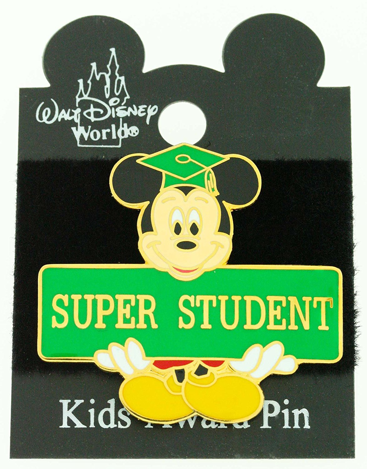 "Disney Mickey Mouse ""Super Student"" Award Trading Pin"