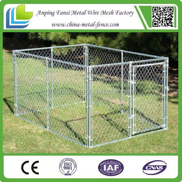outdoor chain link wooden pet products dog-proof kennels design