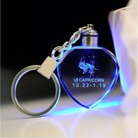 Hot selling heart shaped custom images engraving crystal usb mobile phone key chain for valentine's day