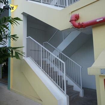 Moderne Indoor Metall Treppengelander Stahl Flachstange Handlauf