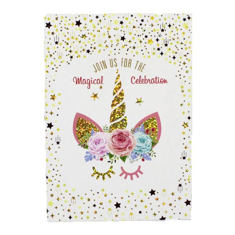Rainbow Card Concise Custom Foil Thank You Cards Holiday Greeting Card Printing