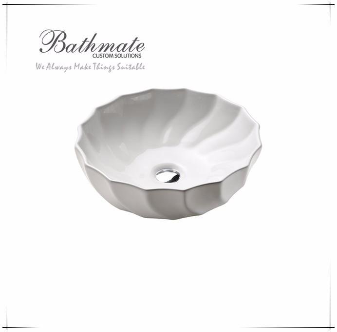 Ceramic Bathromm Flower Above Counter Art Basin