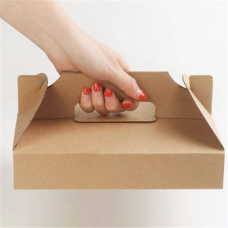 Portable brown pizza box for delivery