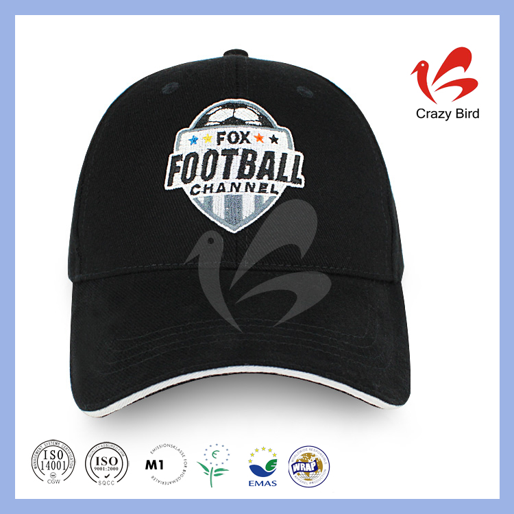 2016 Wholesale Price Football Baseball Cap Characteristic Promotional Caps In Sports Style