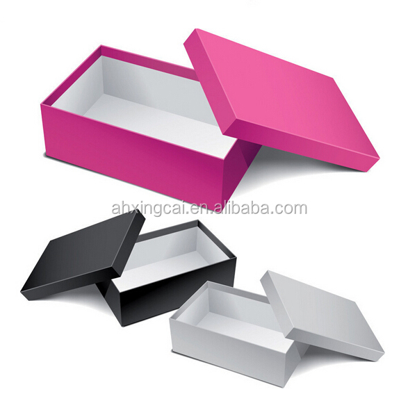luxury quality customized paper cardboard shoe box cardboard logo printed