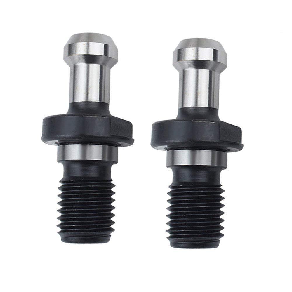 BT30 (S2) 60 Degree Retention Knob Pull Stud Retention Knob CNC Milling Tool Holder Steel with 2pcs