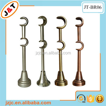 Wall Double Curtain Bracket Metal Rod Accessories