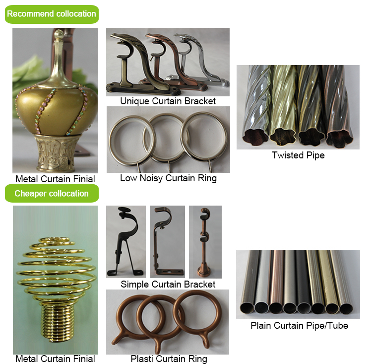 2015 New Design Fancy Curtain Finials,Resin Curtain Accessory Iron ...