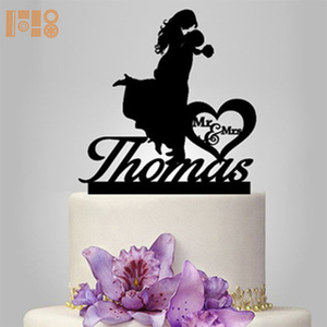 High Quality Bride and Groom acrylic cake toppers for wedding party