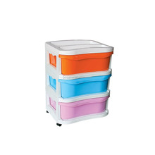 3tier Plastic Storage Cabinet, Living Room Plastic Drawer Cabinet Storage