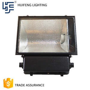Outdoor Tempered Glass Cover Black Floodlight 400W