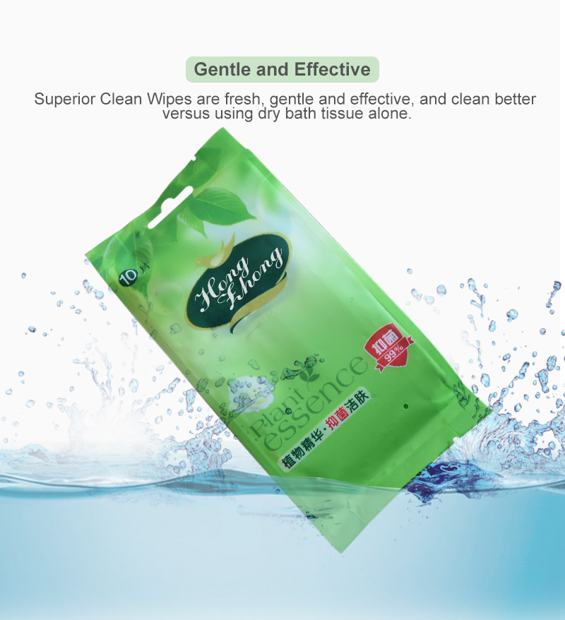Bulk Customizable Printed Antibacterial Nonwoven Hand and Face Wet  Wipes Singles