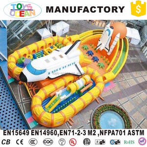 2018 New Design Plane Inflatable Bounce Slide/Inflatable Playground Balloon
