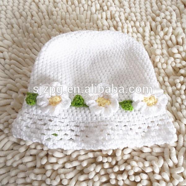 Crochet bebé blanco sombrero de bonete, baby bonete venta al por ...