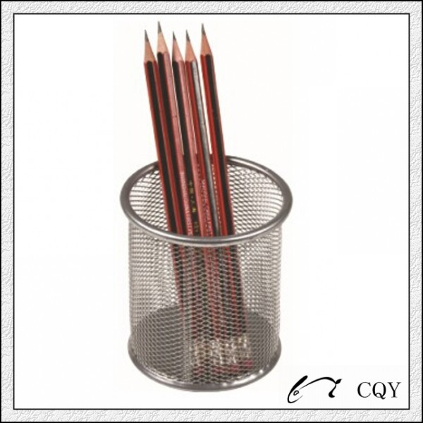 Metal mesh office stationery pencil holder