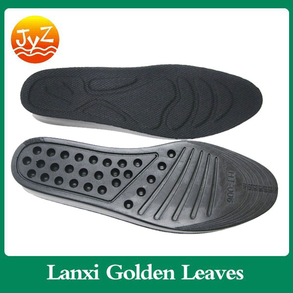 Wholesale PU material comfort durable Height Increase Insoles men dress real leather hidden sole shoes