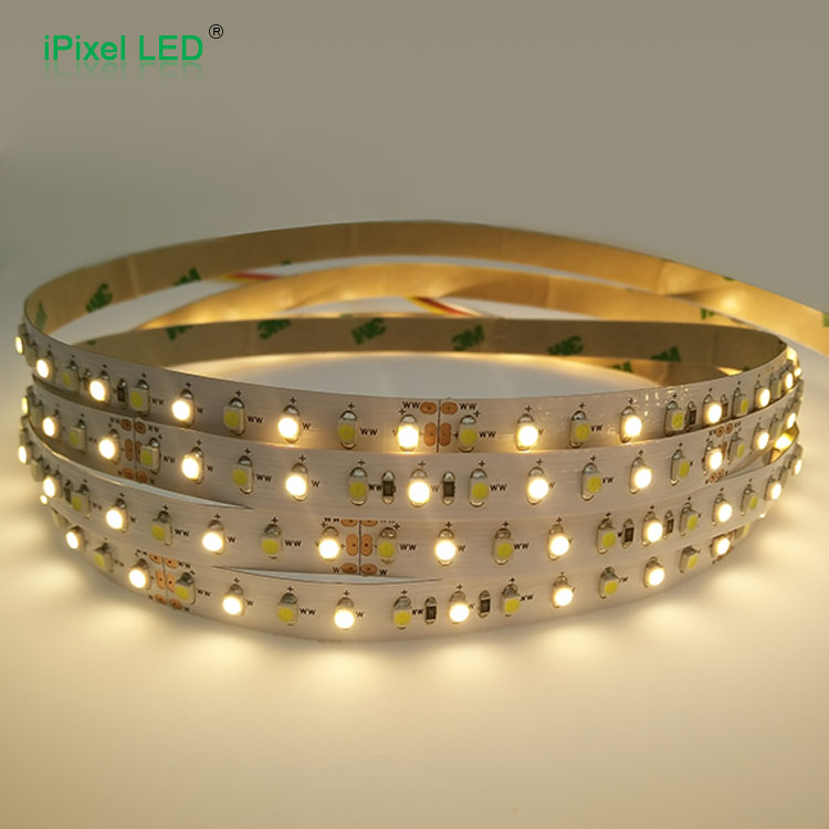 Dual color 24V 9.6W/M 120leds SMD3528 CCT led strip light