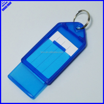 hot sell cheap office large blank plastic label key tags