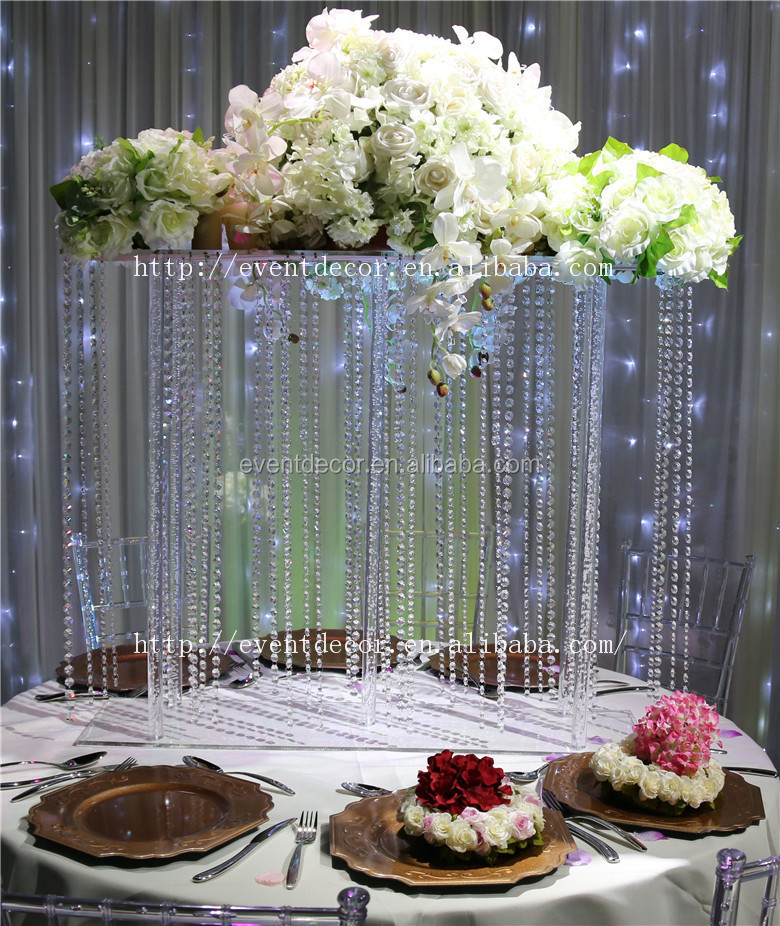 Crystal Flower Centerpiece Hanging Crystal Centerpieces