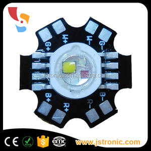 Epiled 30mil 4X1W RGBW high power led diode with PCB star
