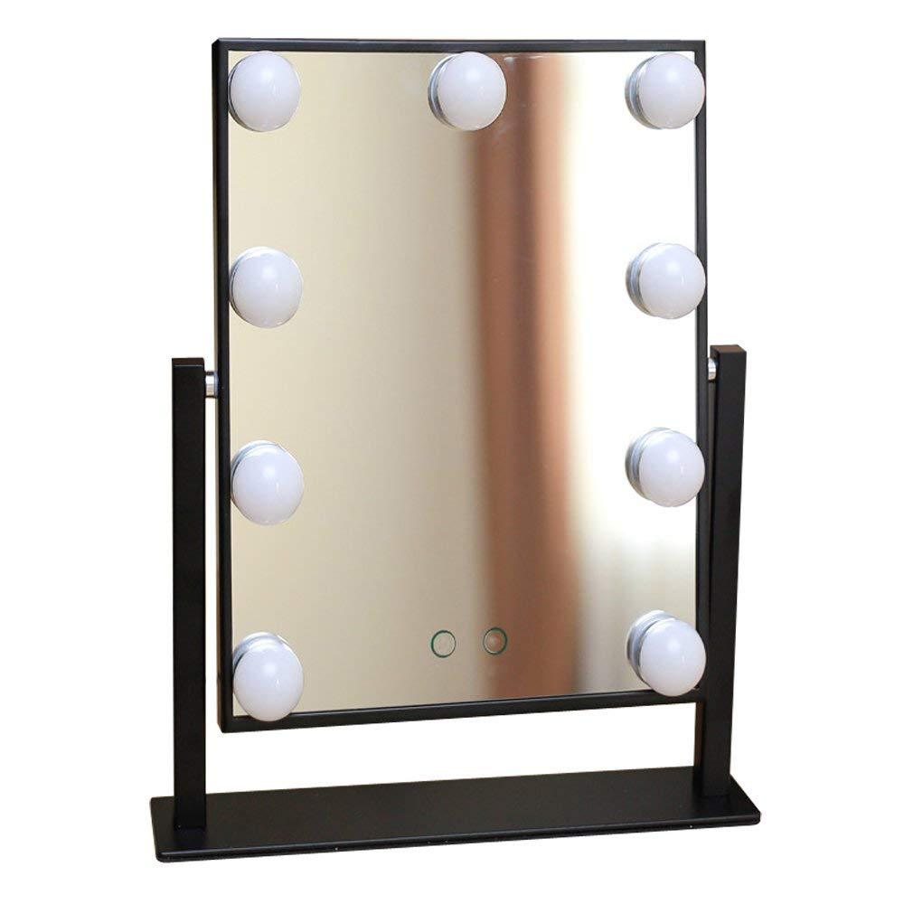 Lighted Vanity Mirror For Makeup, Hollywood Style Bathroom Table Cosmetic Mirrors with Lights Touch Screen Control Led Bulbs Light Up Mirror