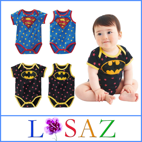 Летом новорожденного унисекс Супермен хлопок Детские трико мультфильм  принцесса младенца девочек костюм Бэтмен детские комбинезон baby f2c3c7b6e507c