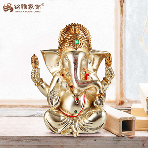 Hindu god decoration resin ganesha statue for living room decoration
