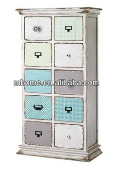 Beautiful Shabby Chic Wooden Living Room Makeup Storage Drawer