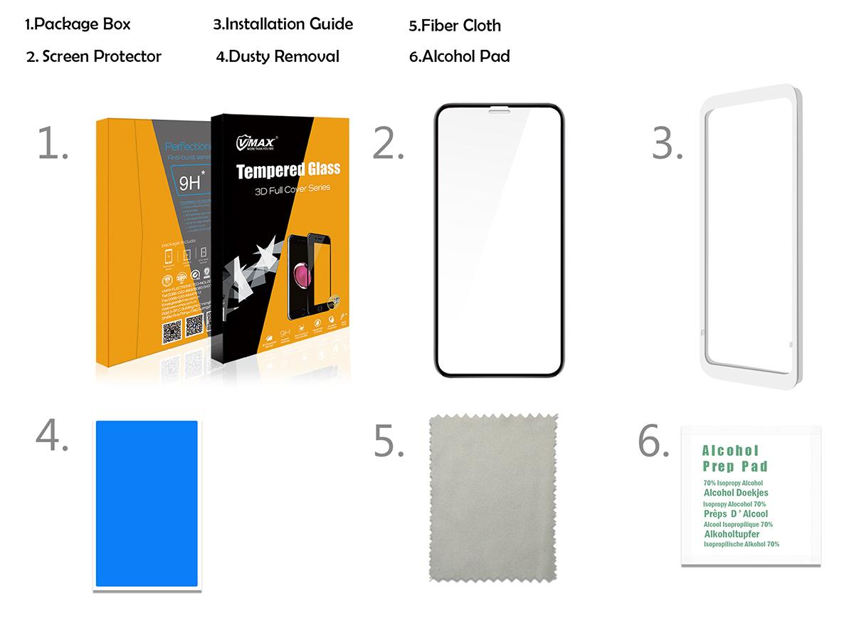 ใหม่! ร้อนขาย 9 H 3D โค้ง Gorilla Glass กระจกนิรภัยสำหรับ iPhone X/8/8 plus OEM บริการ