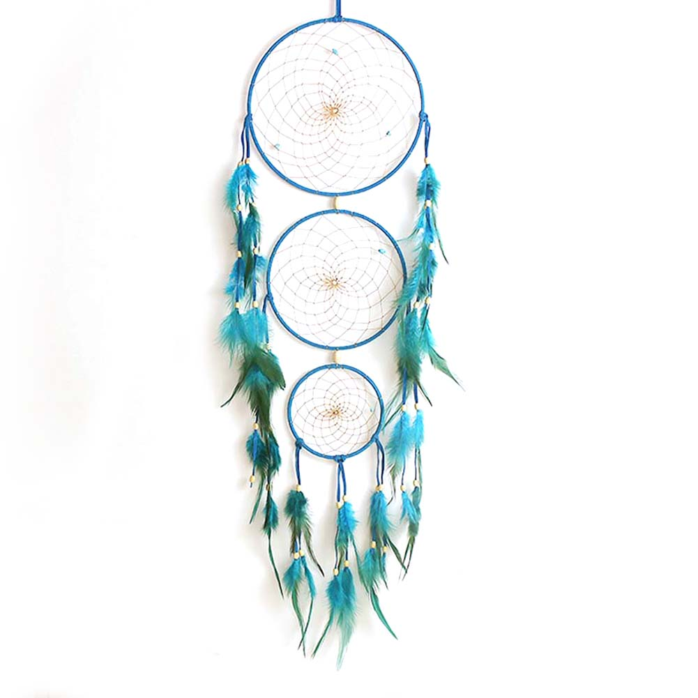 34aa3355474 68 cm indio azul Dream Catcher hecho a mano Dreamcatcher Net con plumas  colgante de pared decoración Craft regalo mascota adorno