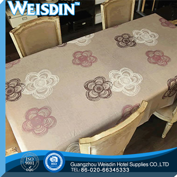 Damask Fabric manufacter Printed promotional rectangle table cloth for kids