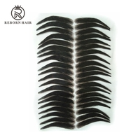 Wholesale Natural Human Hair 100% handmade Artificial Fake False Eyebrows