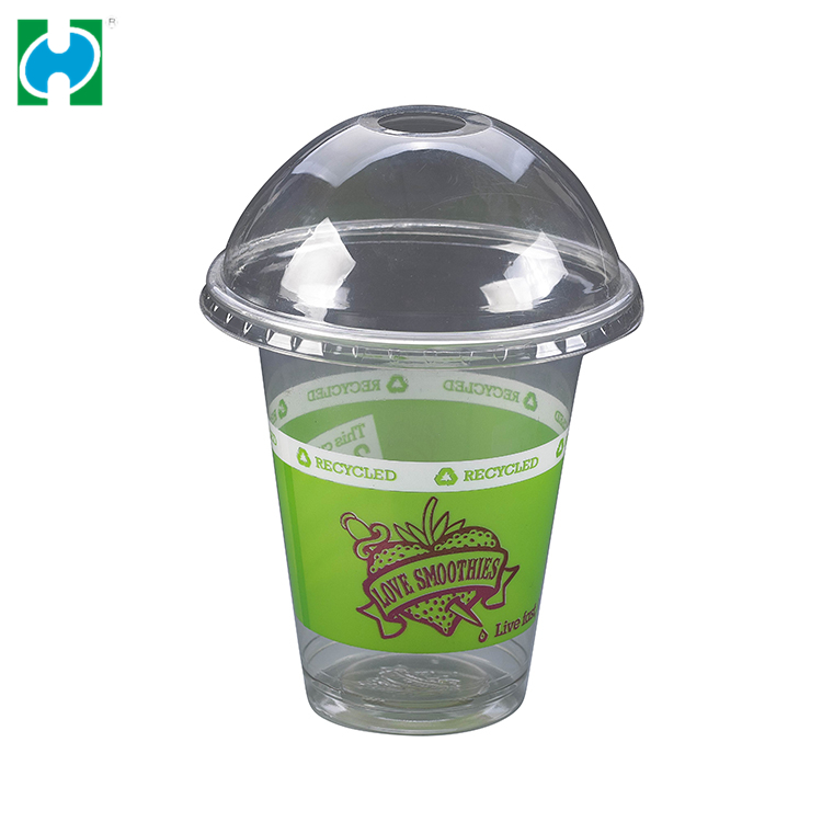 Wholesale PP 12oz Colored Disposable Cup Plastic Cups With Dome Lids Plastic Cup