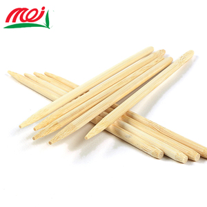 Manufacturer Wholesale Good Price Restaurant Barbecue Straight Disposable Round Bamboo Stick