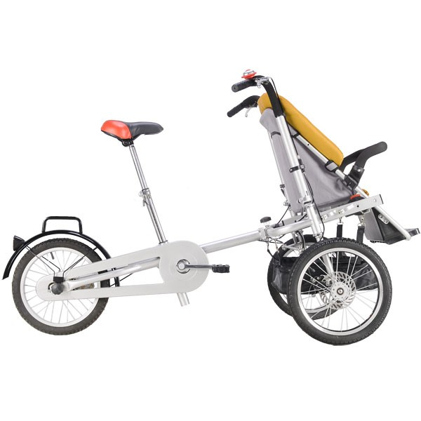 High Quality Mini Foldable Baby Bike Bicycle Stroller Tricycle Trailer For Mother
