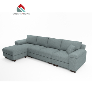 Queenshome New l shape designs about furniture or American fabric corner model 7seater sectional living room sofa