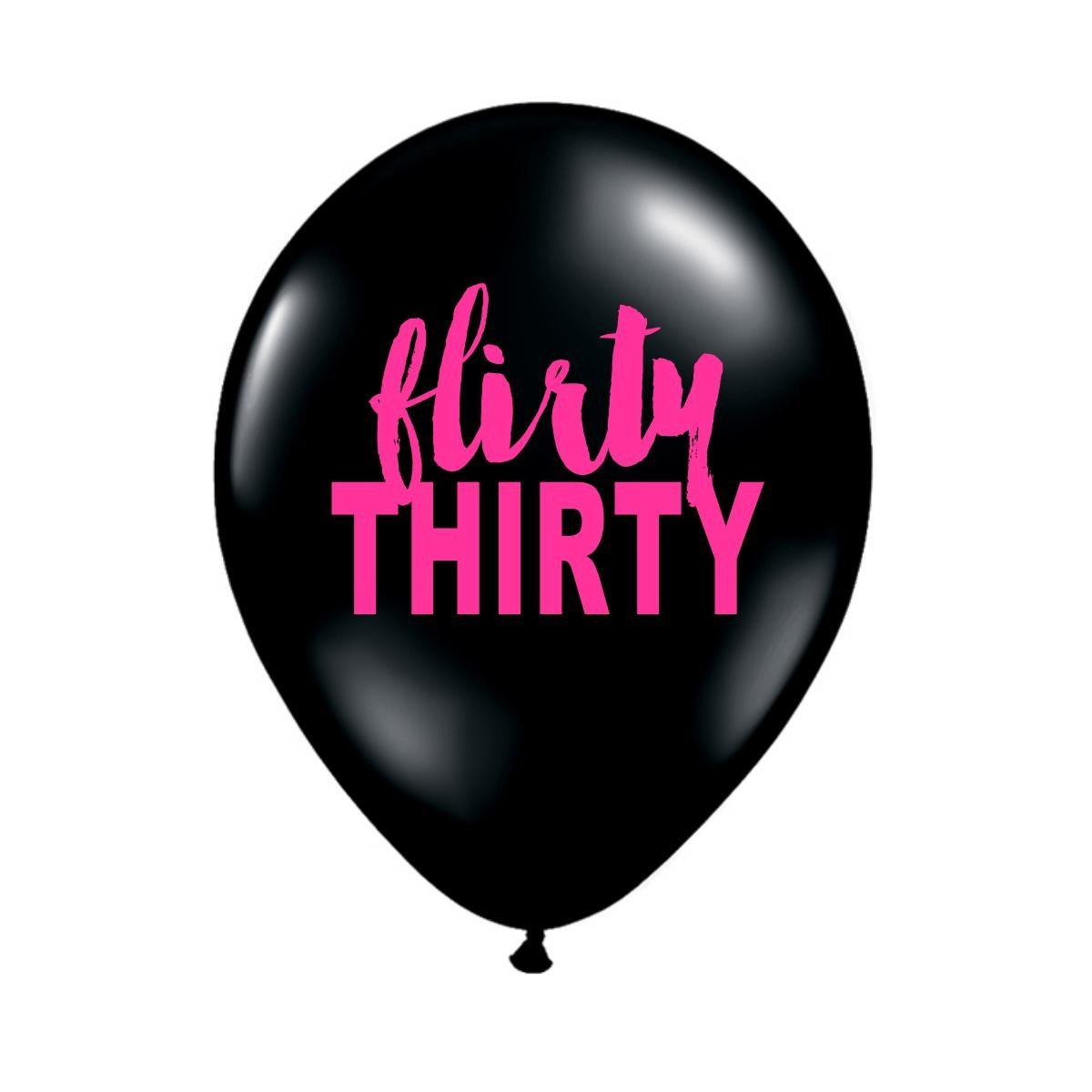 Get Quotations Black Flirty Balloons Thirty 30th Birthday Party Set
