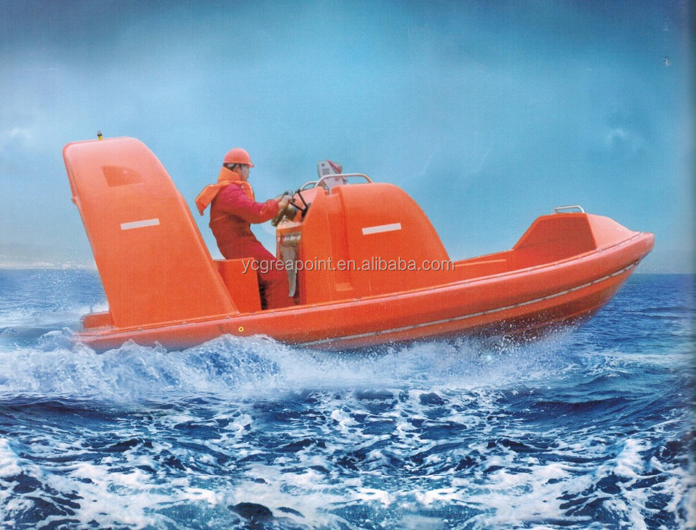 Marine Fiberglass Fast Rescue Boat for 9 Person
