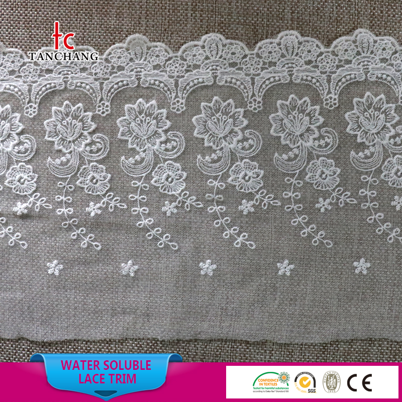 2017 22cm fashion mesh embroidery lace designs embroidery lace trim SRTM101