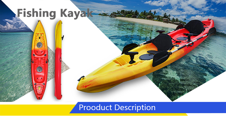 Cheap 2 +1person Fishing Kayak Boat With Accessories Rudder For Recreation  - Buy Parachute Boat,Cheap Kayak For Recreation,2 Person Kayak Rudder