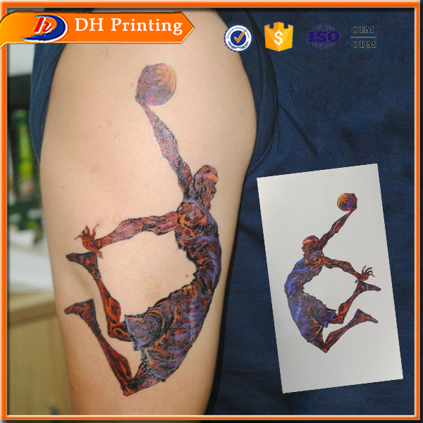 2016 hot sale full color skin safe arm temporary tattoo